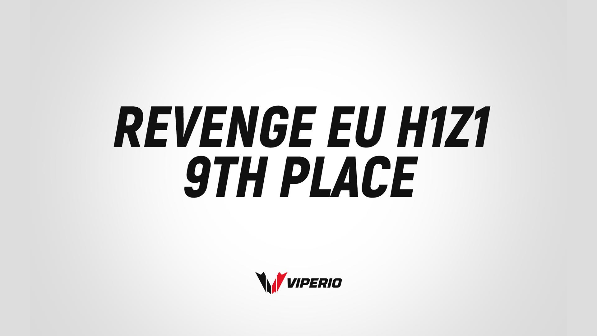 Viperio finish 9th in Revenge EU Tier One H1Z1 League