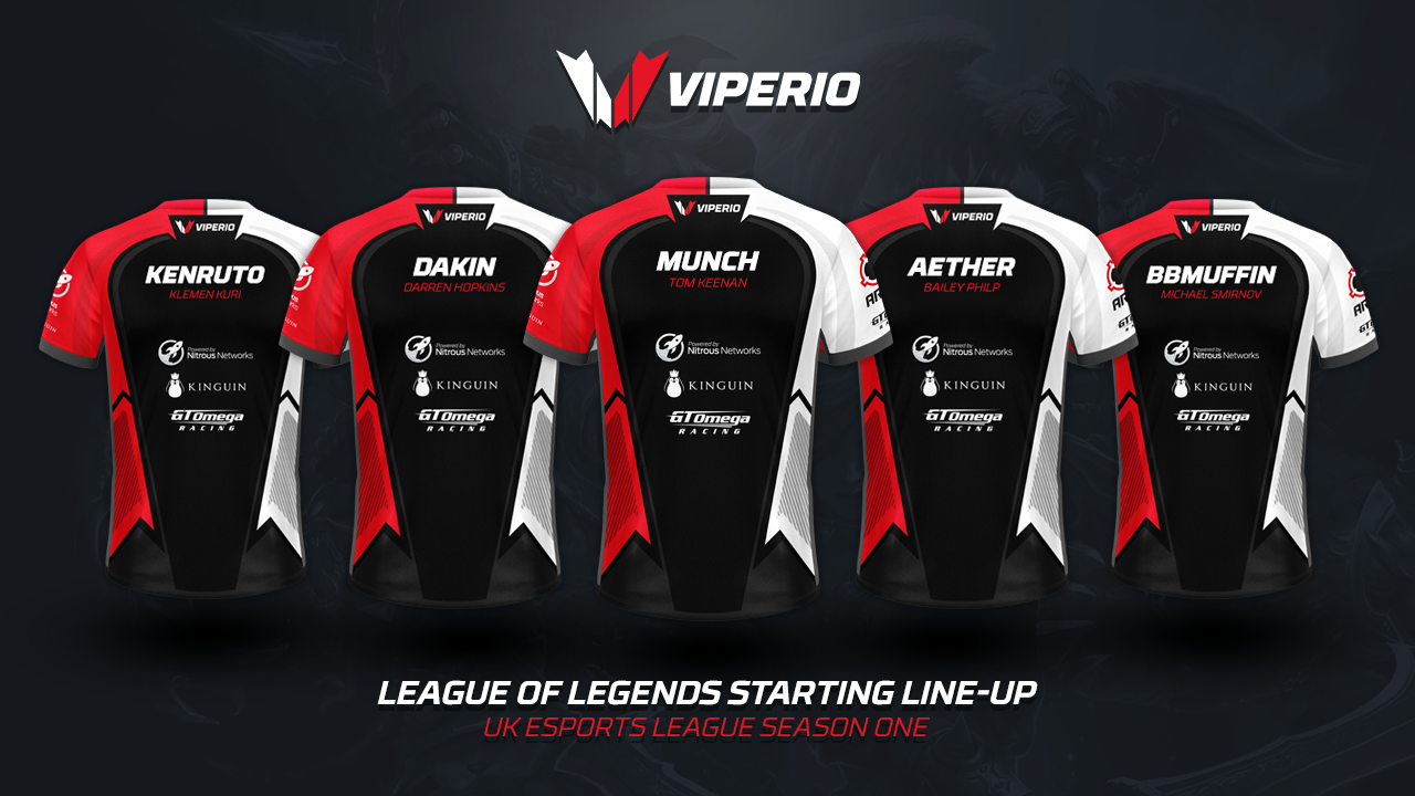 Viperio Announce Starting 5 For UKEL LoL Tournament