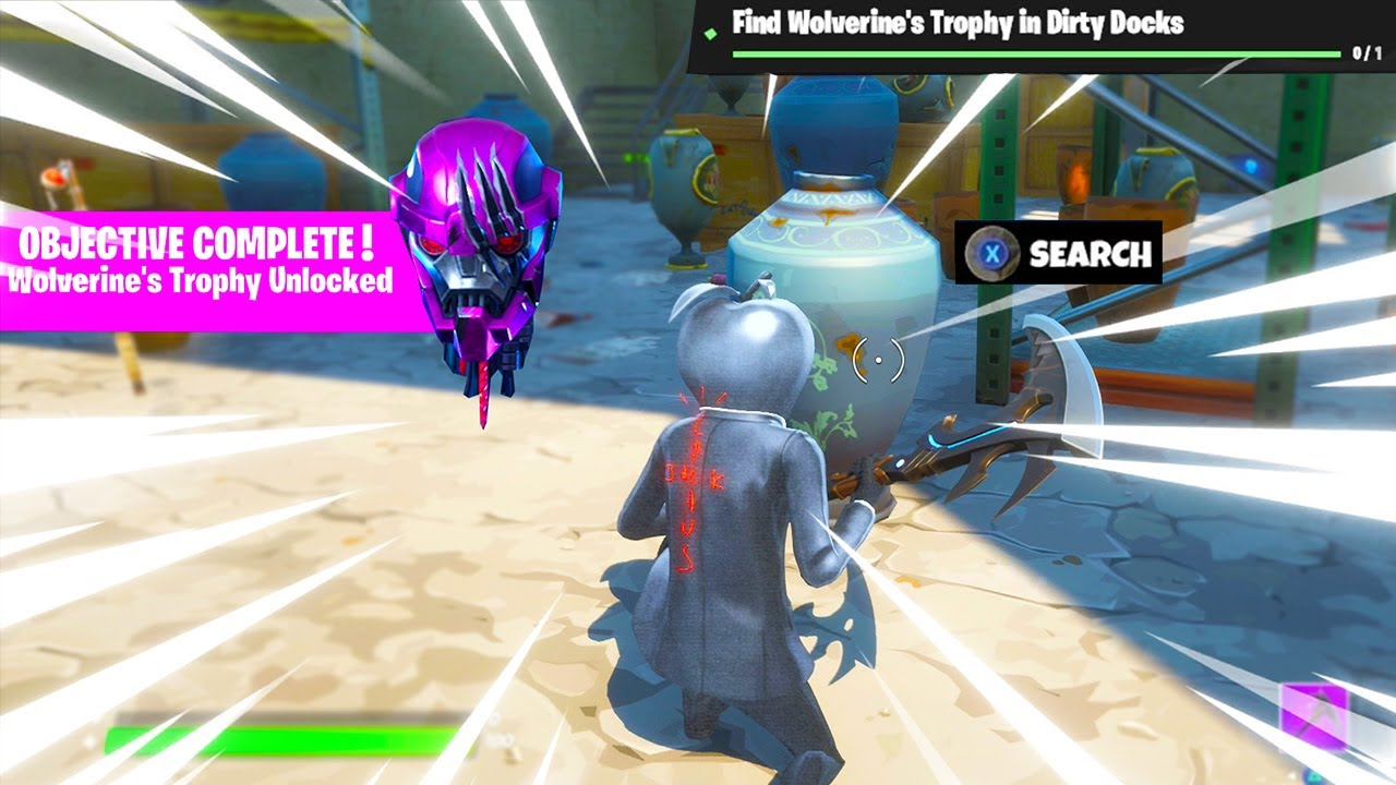 Video: How to complete Fortnite Week 3 Challenge (Wolverine's Trophy)